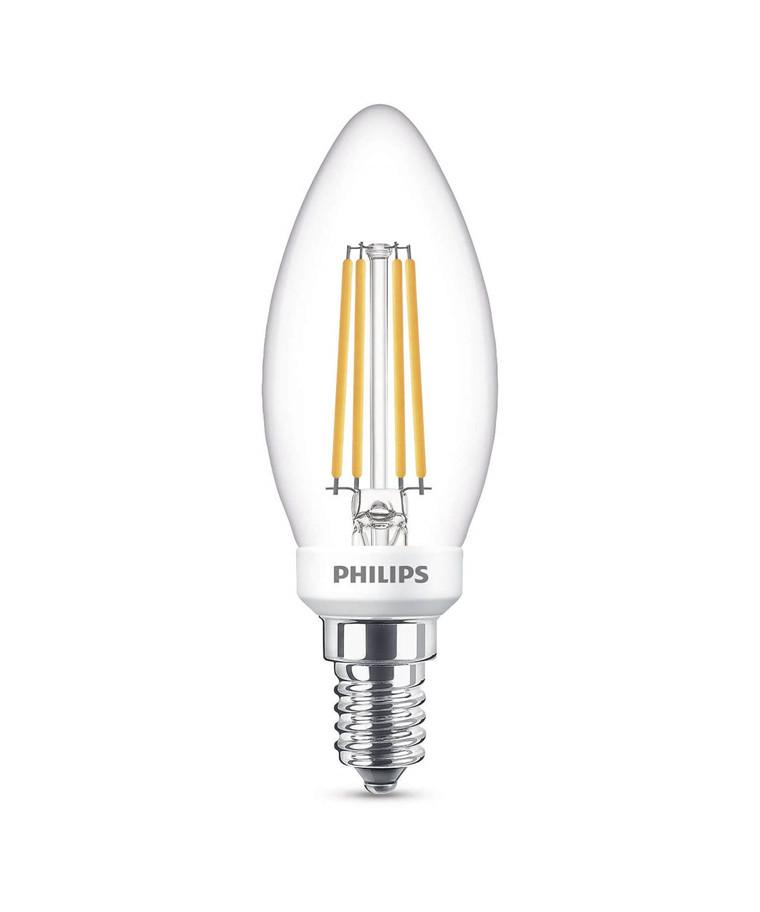 Leuchtmittel LED 5W Glas Kertzen (470lm) Dimmbar E14 - Philips