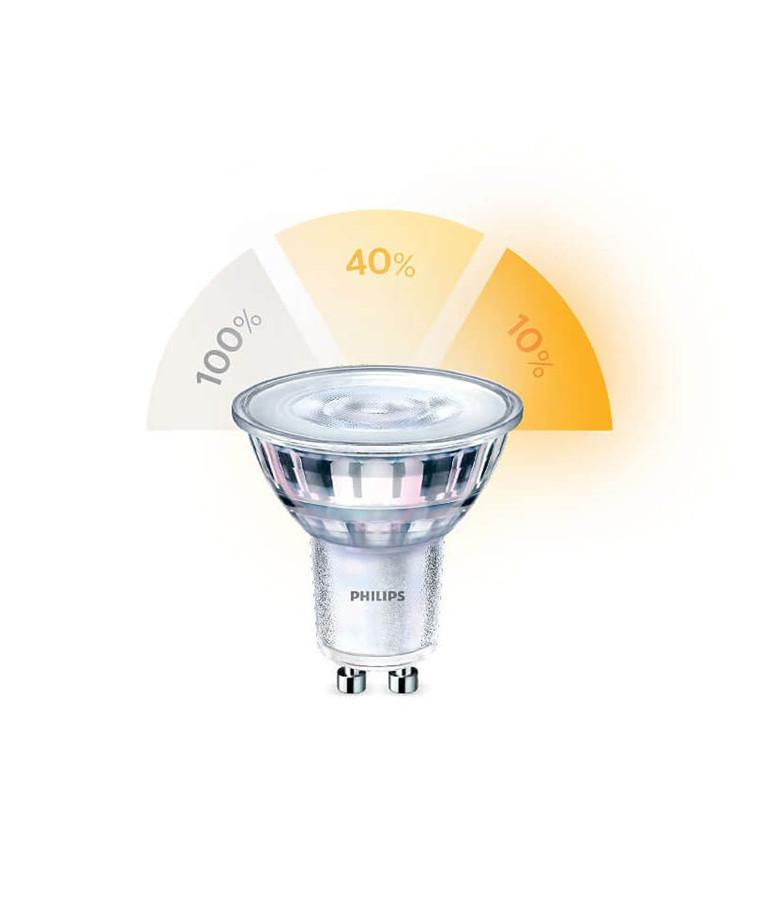 Päronlampa LED 5,5W Sceneswitch (345lm) GU10 - Philips