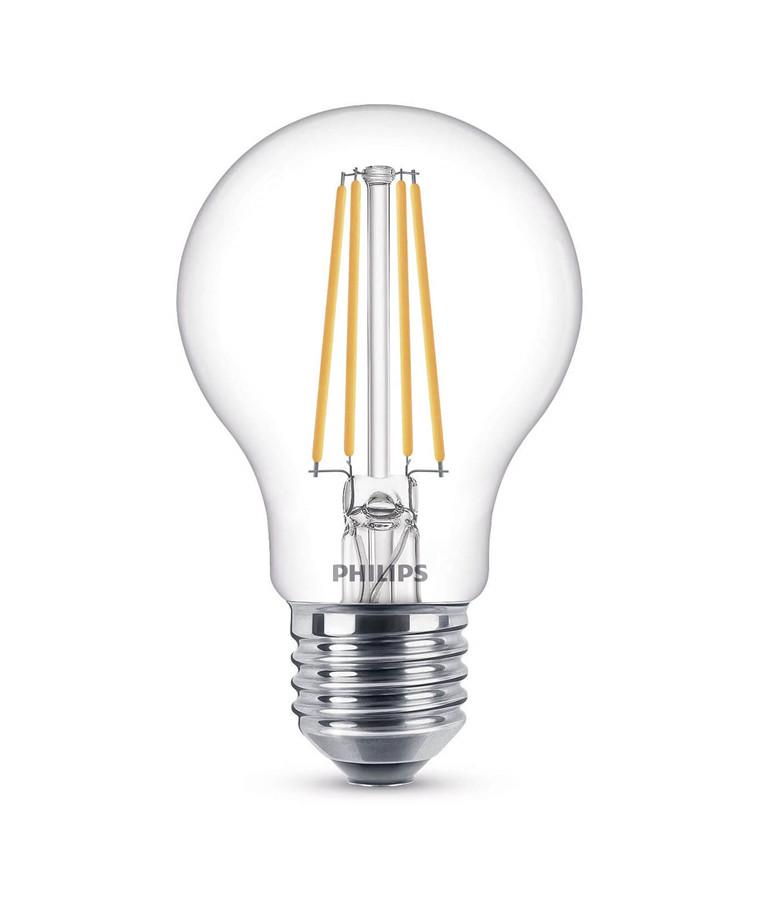 Päronlampa LED 7W Glas (806lm) E27 - Philips