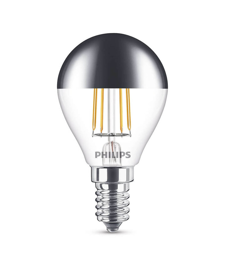 Päronlampa LED 4W Filament Toppreflektor Klot (397lm) E27 - Philips