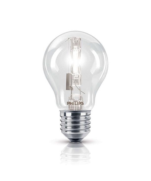 Producent PhilipsKoncept 140W pære, som kan dæmpes.  Den har 2840lm, hvilket svarer til ca. 190W. Den har et varmt lys med 2800 kelvin og en RA værdi på 100, hvilket betyder at den gengiver farverne i rummet optimalt.  Hvis du har det lidt svært med det, med pærer, kommer der her en lille kort forklaring om de vigtigste ting, du skal være opmærksom på.  I dag bliver lysstyrken målt på lumen i stedet for watt. Du kan nogenlunde gå ud fra nedenstående.  15W = 140 lumen  25W = 250 lumen  40W = 470 lumen  60W = 800 lumen  75W = 1050 lumen  100W = 1520 lumen Derudover kan man også se på en pære, at der er oplyst en RA eller CRI værdi. Det er lysets evne til at gengive farver og det vurderes på en skala fra 0-100 RA.  100 RA giver den bedste farvegengivelse og det er det, man får fra dagslys.  Til et almindeligt hjem, skal man vælge pærer med en RA værdi på mere end 80.  Der vil også være oplyst en kelvingrad. Dette er lysets farve. En pære med en kelvingrad på 2.700 - 3.000 har et varmt lys