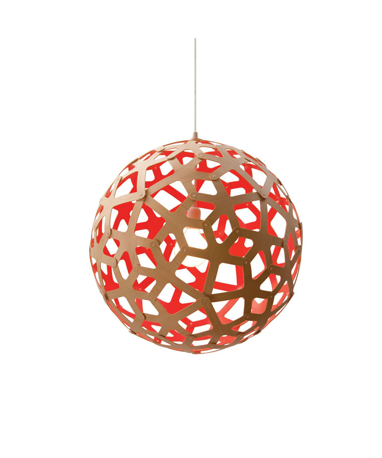 Coral Taklampe Rød Ø120 - David Trubridge