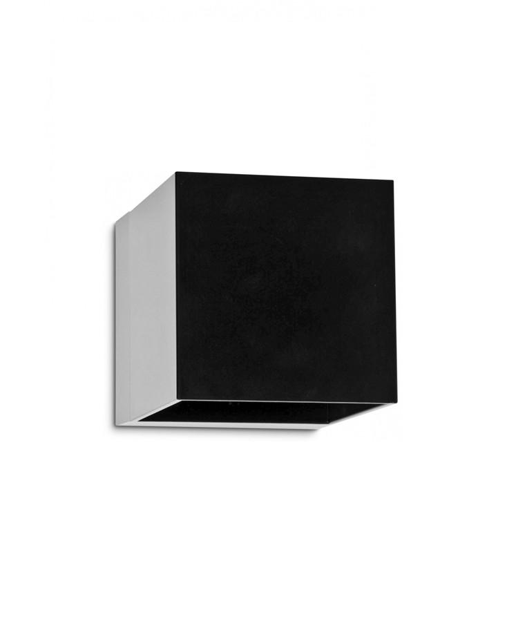 Copenhagen Cube LED Utomhus Vägglampa Svart - Studio Italia