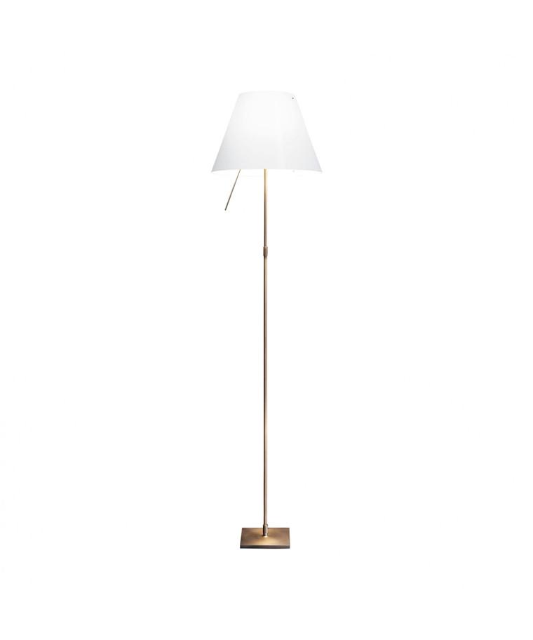 Costanza Gulvlampe Bronse/Hvit Limited Edition - Luceplan