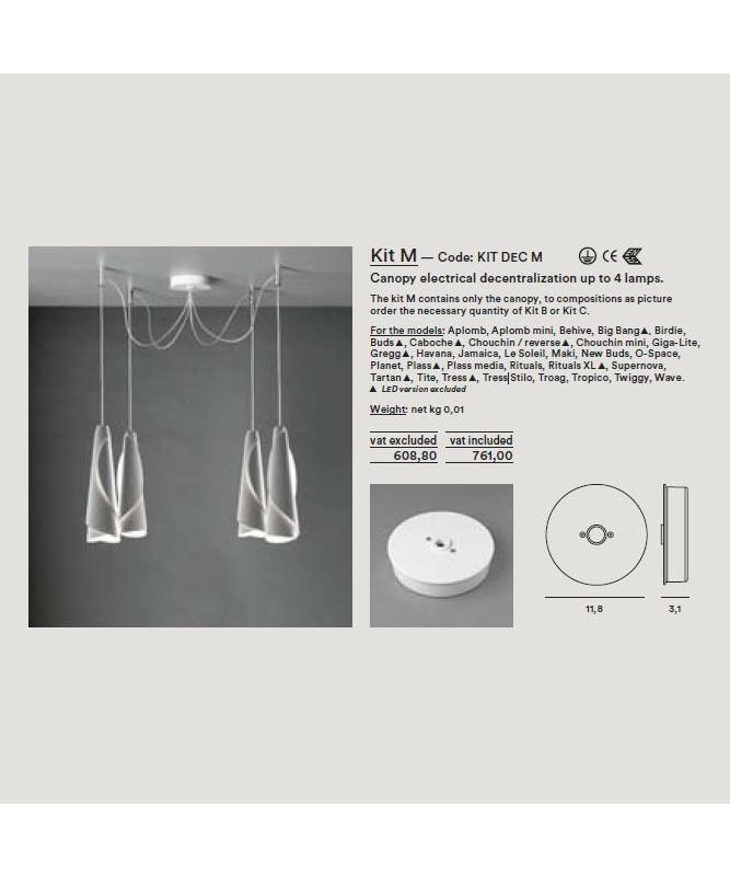 Image of   Baldakin til Montering af 1-4 Lamper Kit Dec M - Foscarini