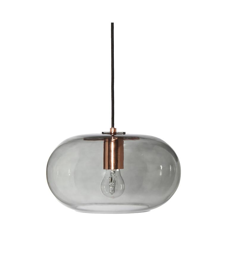 Kobe Glas Pendelleuchte Rauchig/Kupfer - Frandsen