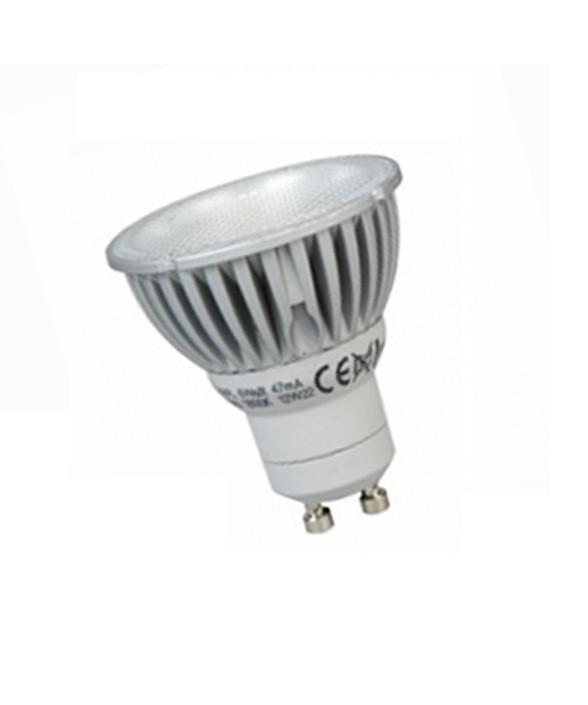 Producent MegamanKoncept LED Pære.  Den har 410lm, hvilket svarer til ca. 40W.   Hvis du har det lidt svært med det, med pærer, kommer der her en lille kort forklaring om de vigtigste ting, du skal være opmærksom på.  I dag bliver lysstyrken målt på lumen i stedet for watt. Du kan nogenlunde gå ud fra nedenstående.  15W = 140 lumen  25W = 250 lumen  40W = 470 lumen  60W = 800 lumen  75W = 1050 lumen  100W = 1520 lumen Derudover kan man også se på en pære, at der er oplyst en RA eller CRI værdi. Det er lysets evne til at gengive farver og det vurderes på en skala fra 0-100 RA.  100 RA giver den bedste farvegengivelse og det er det, man får fra dagslys.  Til et almindeligt hjem, skal man vælge pærer med en RA værdi på mere end 80.  Der vil også være oplyst en kelvingrad. Dette er lysets farve. En pære med en kelvingrad på 2.700 - 3.000 har et varmt lys.  4.000-4.5000 giver et neutral til køligt lys og er den mest optimale lysfarve at arbejde i.  Hvis man har brug for ekstra energi i de m
