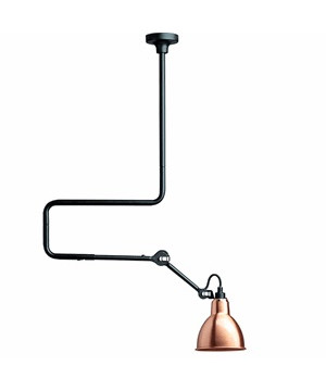 312 Loftlampe Sort/Kobber - Lampe Gras