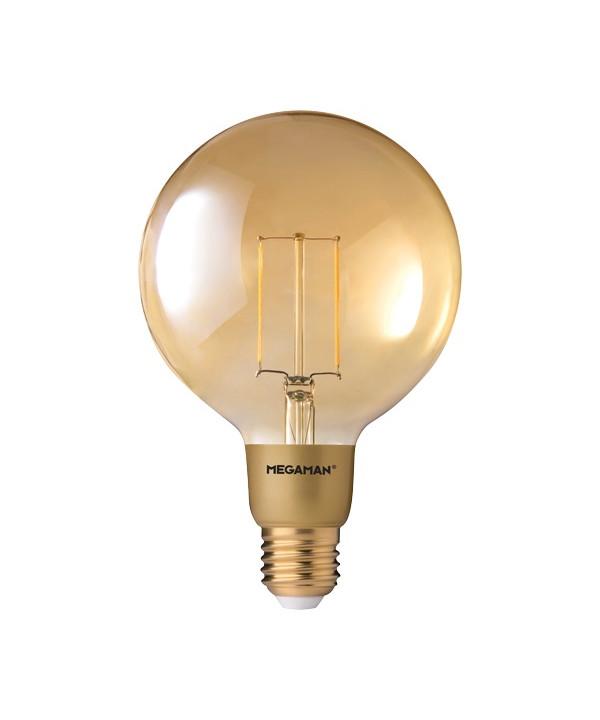 Billede af Pære LED 3W (210lm) Globe Ø125 E27 - Megaman