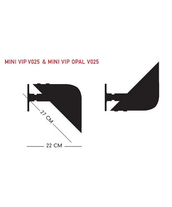 DesignJørgen Gammelgaard for pandul  Koncept Mini Vip Væglampe V025 P Opal Hvid er en smuk lampe designet af Jørgen Gammelgaard for Pandul.  Her har du en lampe med mange gøremål og funktioner, da du kan vippe lyset op eller ned, alt efter dit behov. Placer flere lamper på række i en lang gang, op langs en trappeopgang, eller brug en enkelt ved lænestolen eller som sengelampe. Med Vip får du en utrolig fleksibel lampe som giver et blødt, dejligt og diffust lys ud i rummet.  Der er en kontakt på fatningen og ledningsføringen kan valgfrit køres indvendigt mod væg eller udvendigt til stikkontakt.  OBS - Lamperne fra Pandul produceres og samles i Danmark, med afsendelse fra fabrikken én gang om ugen. Derfor vil der kunne opleves leveringstider op til 4-8 dage ved lagerudsving.