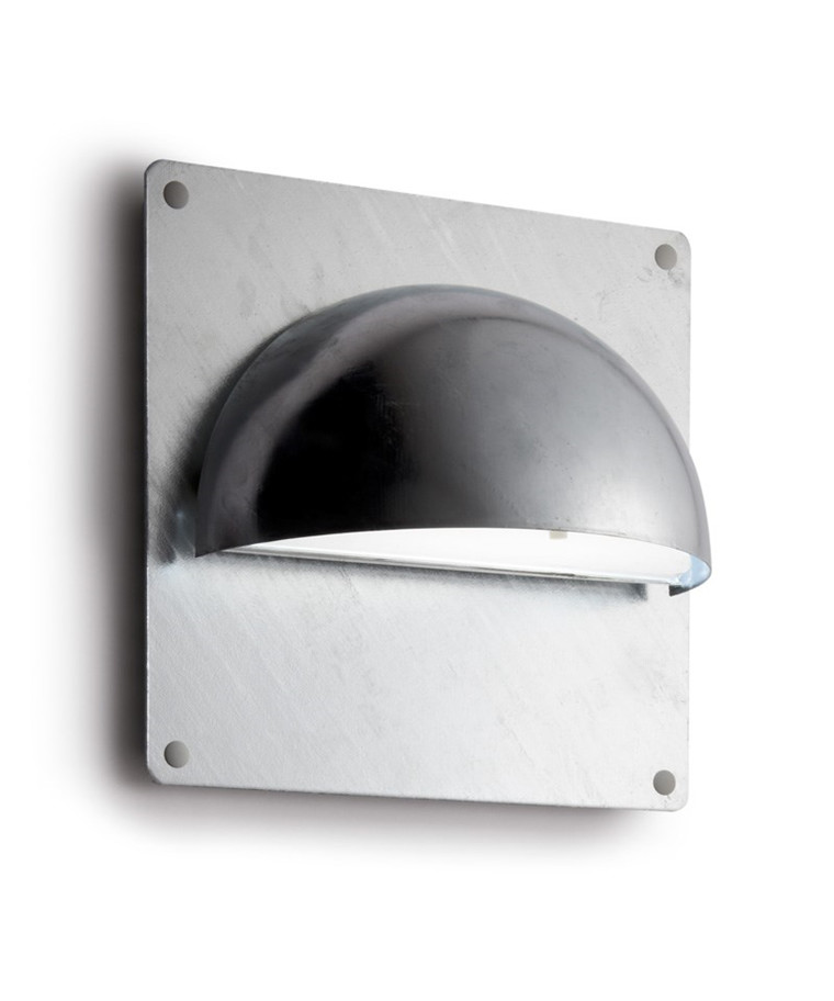 Rørhat Bagplade XL 30X30cm Galvaniseret - LIGHT-POINT