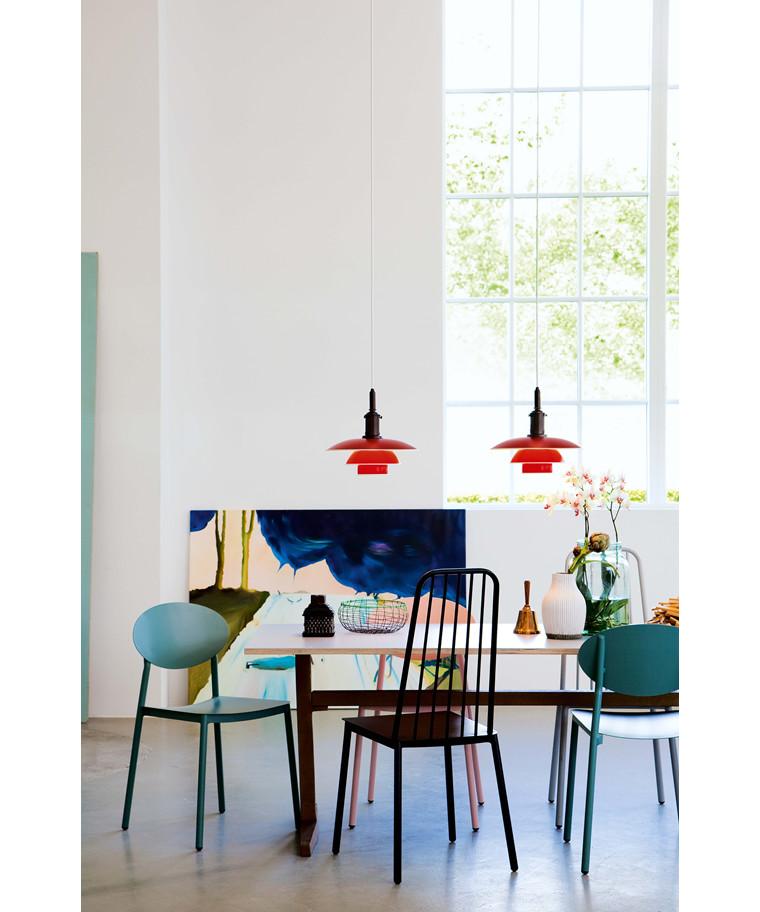 ph 3 3 pendelleuchte rot louis poulsen. Black Bedroom Furniture Sets. Home Design Ideas