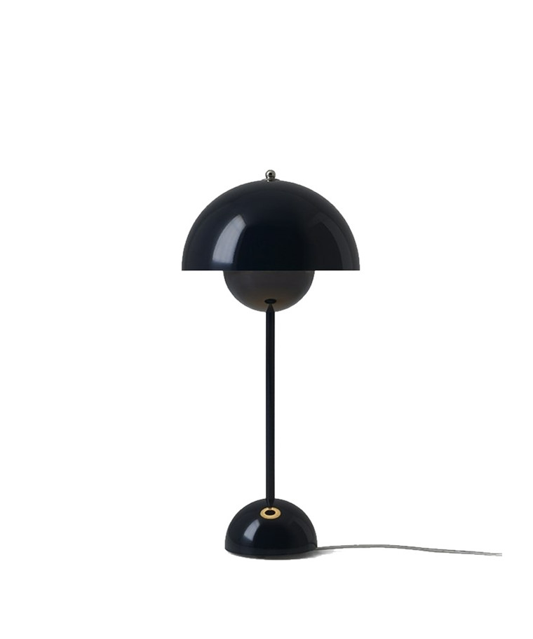 Flowerpot VP3 Bordlampe Black Blue - &tradition