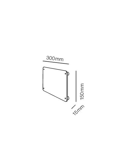Rørhat Navneplade 15X30cm Hvid - LIGHT-POINT