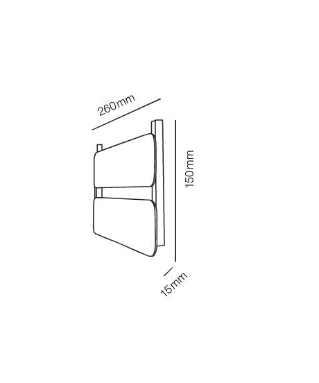 Rørhat Small Navneplade XS 2 Delt Hvid - LIGHT-POINT