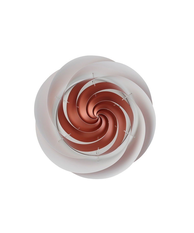 Swirl LoftlampeVæglampe Large Kobber - Le Klint
