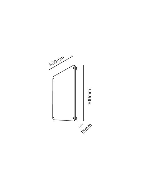 Rørhat Navneplade XL 30X30cm Sort - LIGHT-POINT