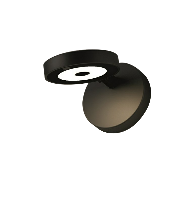 String H0 Væglampe/Loftlampe Sort - Rotaliana