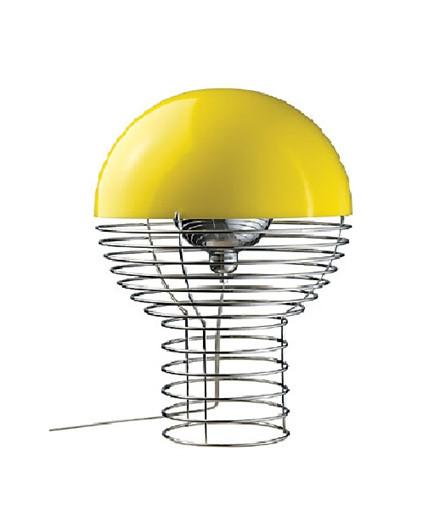 Wire Bordlampe Gul - Verpan