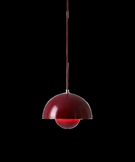 Flowerpot VP1 Pendel Deep Red - &tradition
