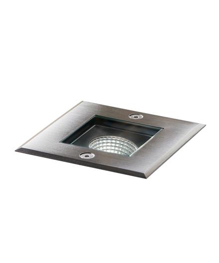 Sub 1 LED Quadratisch Erd Spot Edelstahl - LIGHT-POINT