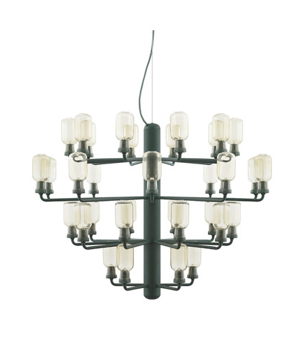 Amp Chandelier Large Gold/Green - Normann Copenhagen
