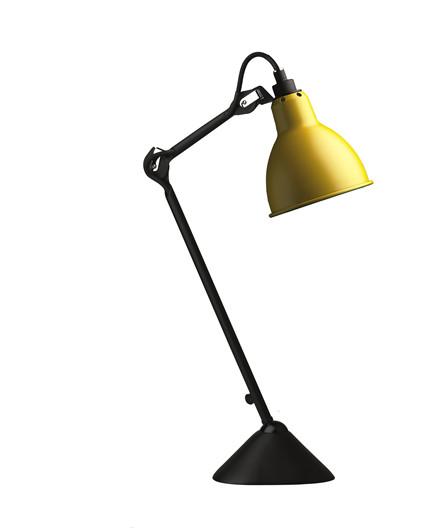 205 Bordlampe Gul/Sort - Lampe Gras