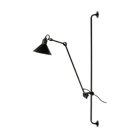 214 Vegglampe Svart - Lampe Gras
