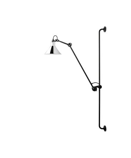 214 Vägglampa Krom - Lampe Gras