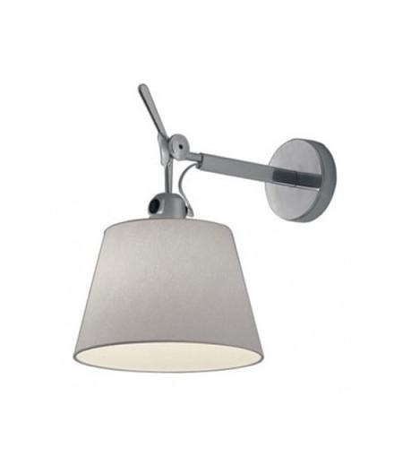 Tolomeo Parete Diffusore Vegglampe Ø24 Grå Satin - Artemide