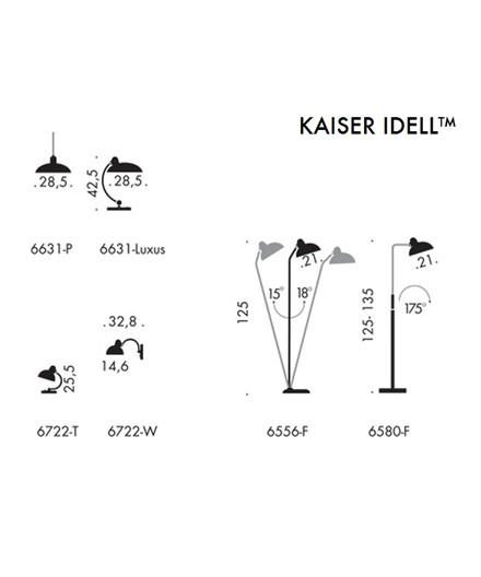 Kaiser Idell Pendelleuchte Schwarz Mat 6631-P - Fritz Hansen