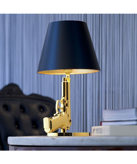 Gun Bedside Bordlampe Guld - Flos