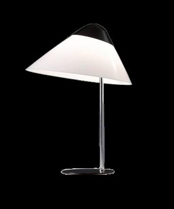 Opala Midi Bordlampe m/Dimmer Hvid & Krom - Pandul