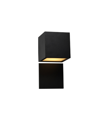 Navneplade til Cube Udendørslampe Sort - LIGHT-POINT