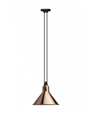 322 L Pendel Konisk Kobber/Hvid - Lampe Gras thumbnail