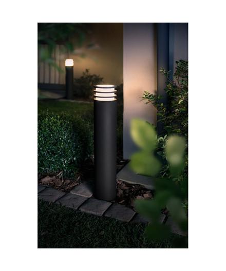 lucca au en pollerleuchte hoch antracit philips hue. Black Bedroom Furniture Sets. Home Design Ideas