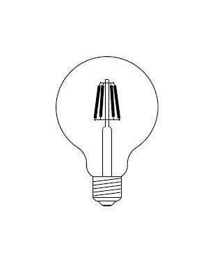 Pære LED 3,5W (245lm) Globe Ø80 E27 - Design By Us
