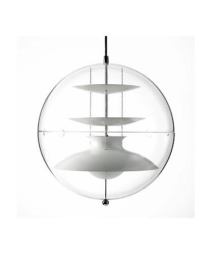 DesignVerner Panton for Verpan Koncept Panto 50 er en transparent akryl lampe med reflektorer i udhulet aluminium med lakeret finish, farvet hvid. Yderligere er hver lampe et individuelt nummereret og med lampen følger et certifikat med lampens nummer. Dette er for at undgå parallelimport samt at styrke produktets kvalitet.