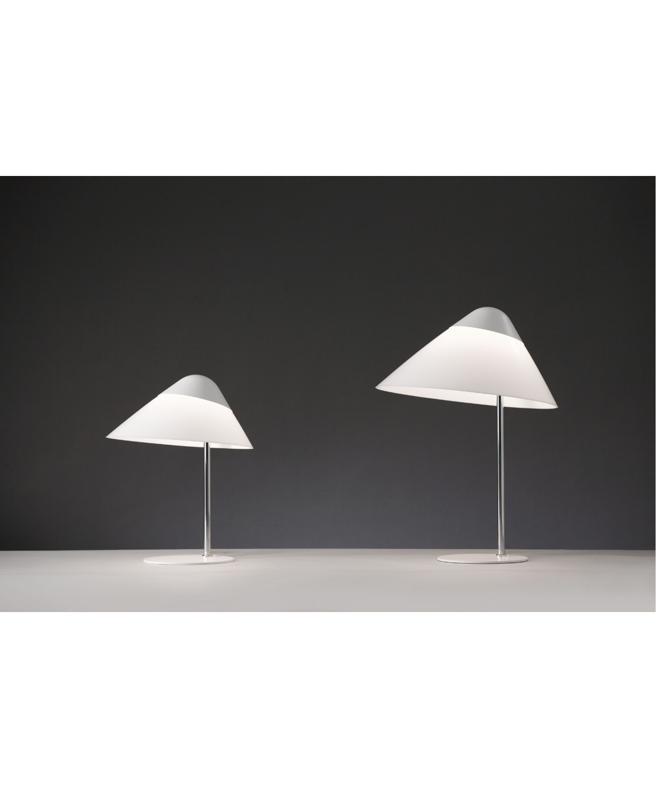 Opala mini bordlampe u/dimmer sort & krom
