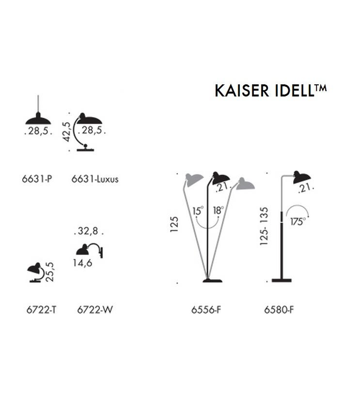 kaiser idell stehleuchte schwarz high gloss 6556 f super fritz hansen. Black Bedroom Furniture Sets. Home Design Ideas