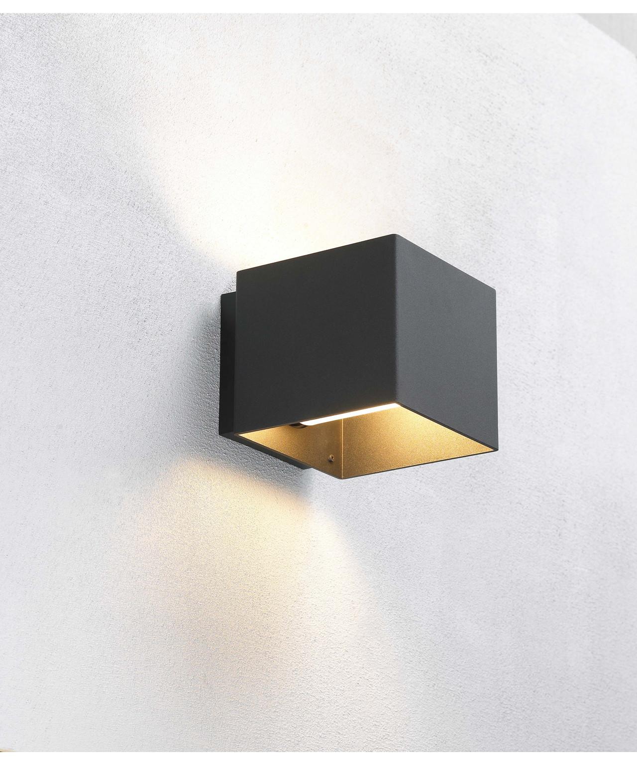 welcome wandleuchte schwarz embacco. Black Bedroom Furniture Sets. Home Design Ideas