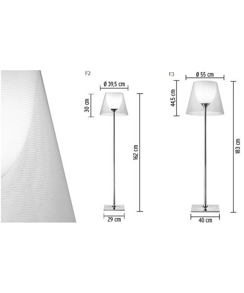 KTribe F3 Gulvlampe Transparent - Flos