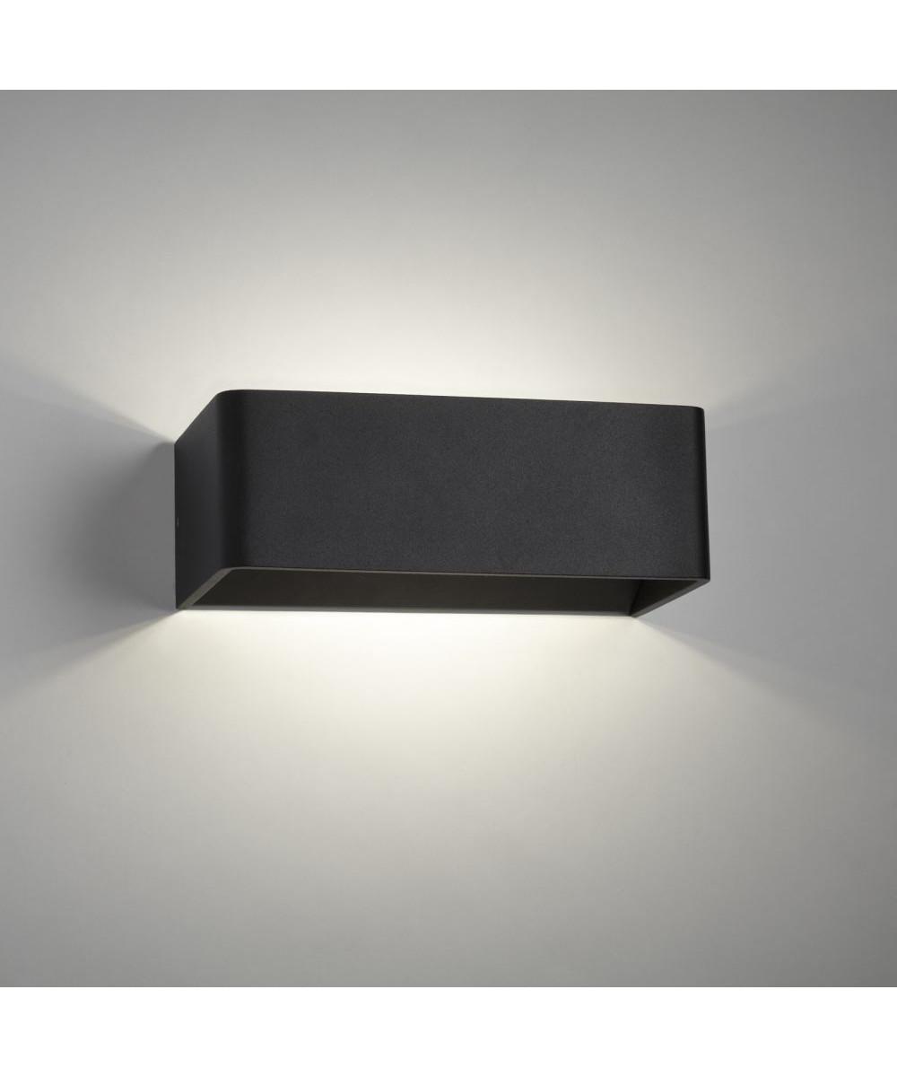 mood 2 led wandleuchte schwarz light point. Black Bedroom Furniture Sets. Home Design Ideas