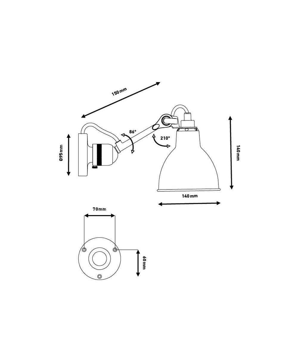304SW V u00e6glampe Rod Lampe Gras