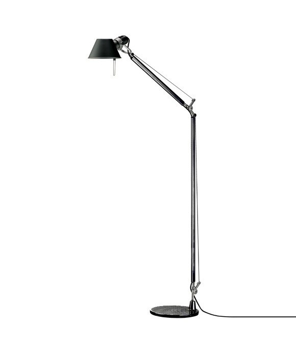 tolomeo lettura gulvlampe sort artemide. Black Bedroom Furniture Sets. Home Design Ideas