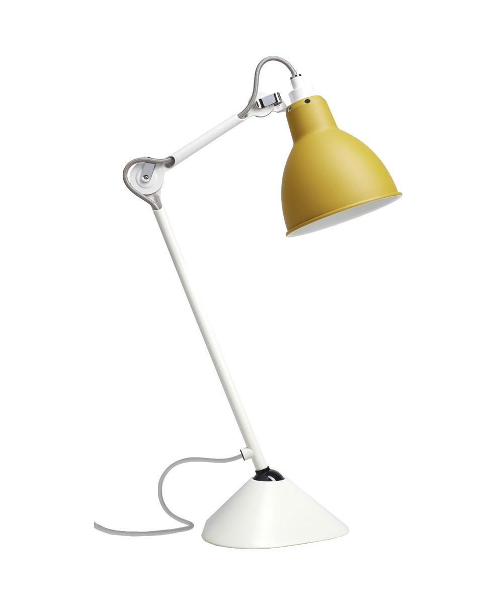 Image of   205 Bordlampe Hvid/Gul - Lampe Gras