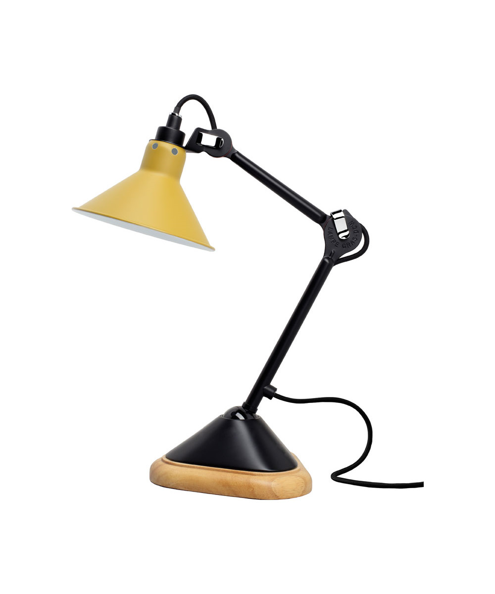 Image of   207 Bordlampe Sort/Gul - Lampe Gras