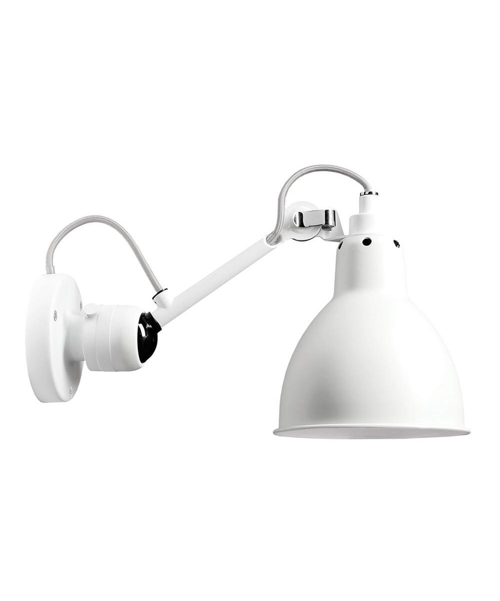 Image of   304SW Væglampe Hvid/Hvid - Lampe Gras
