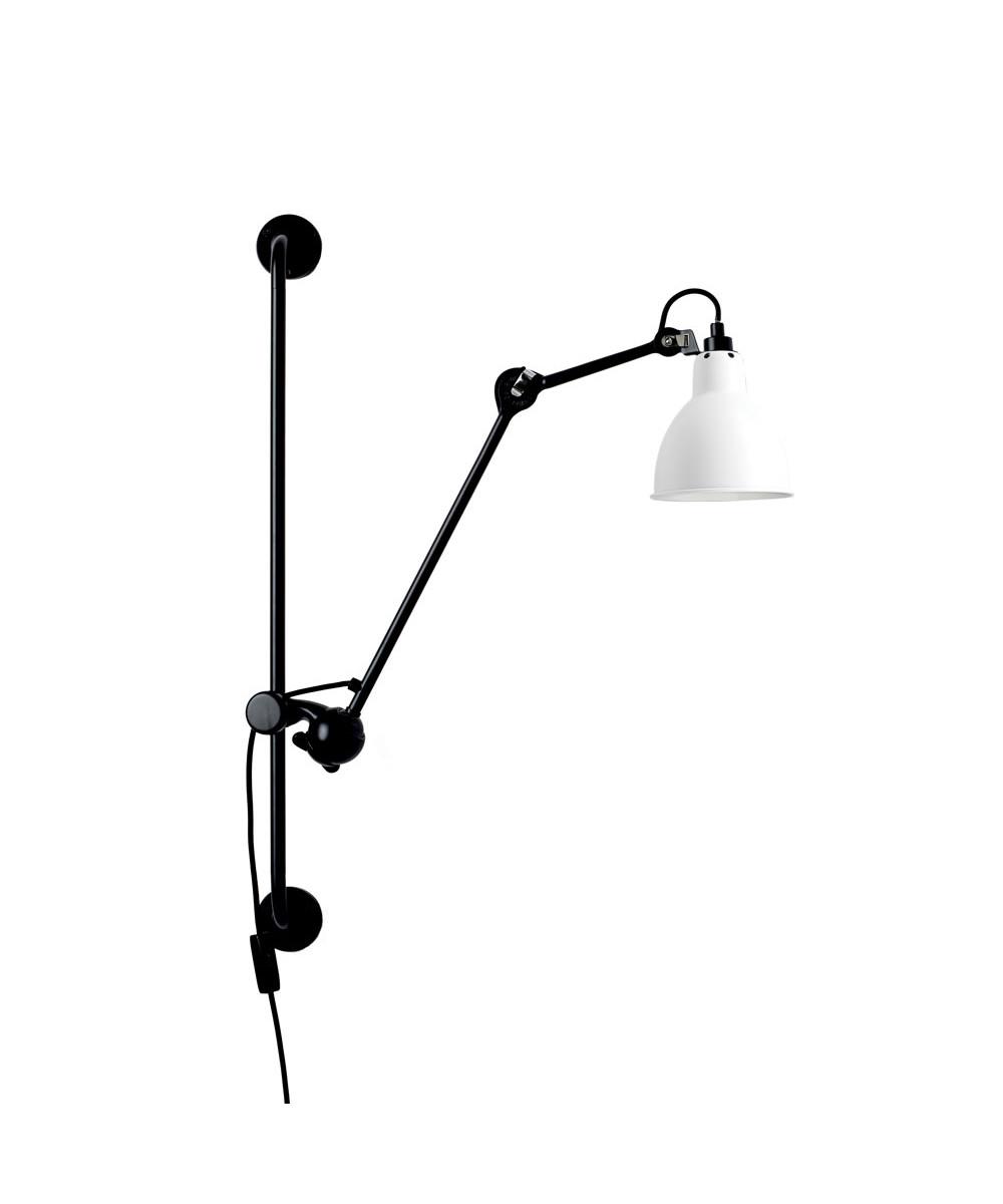 Image of   210 Væglampe Sort/Hvid - Lampe Gras