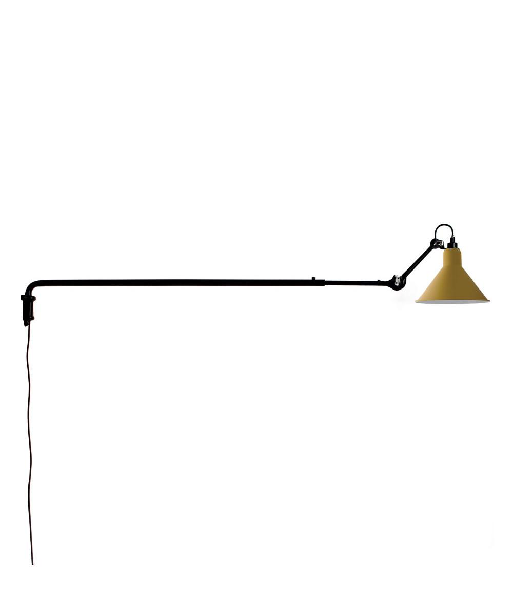 Image of   213 Væglampe Sort/Gul - Lampe Gras